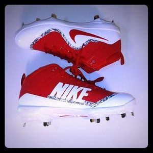 New Nike Men Force Air Trout 4 Pro Red